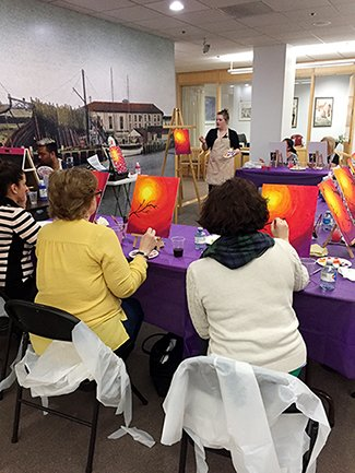 Chelsea Groton Paint Night