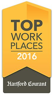 Awarded Top Work Places of 2016 by Hartford Courant
